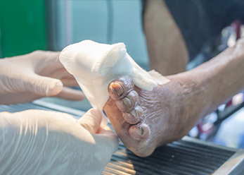 Woman foot isolated